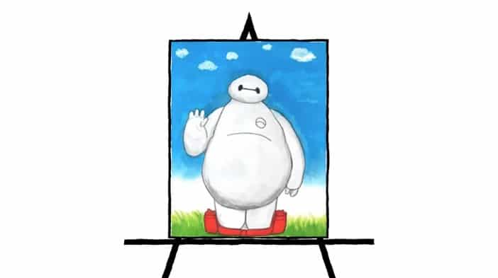 colorful painting of baymax