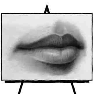 sketch of lips