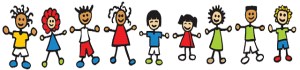 Clip Art, Children holding hands