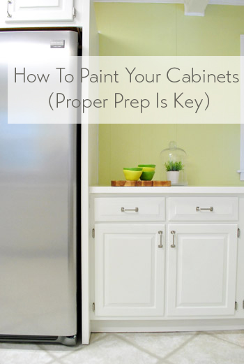 How To Paint Kitchen Cabinets Proper Prep