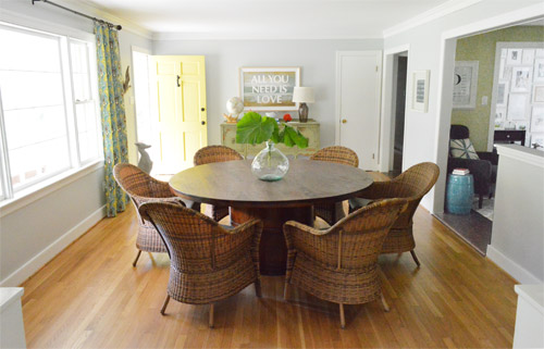Cute Some Rustic Woven Chairs For The Dining Room