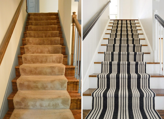 How To Install A Stair Runner Yourself Young House Love   Solid Color Stair Runners   Non Slip   Rectangle   Rubber Backed   Modern Stair   Flooring