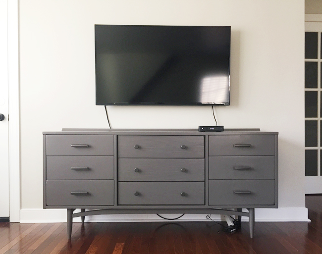 How-To-Hide-TV-Wires-Television-Mounted-To-Wall
