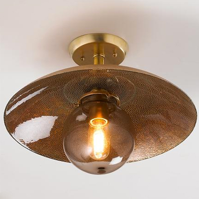 Copper Glass Ceiling Light for Shades of Light