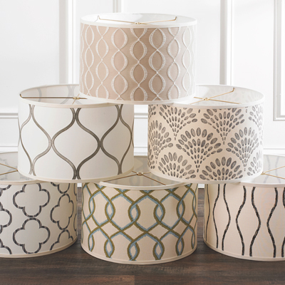 Decorative Fabric Shades for Shades of Light