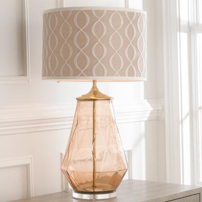 Diamond Glass Lamp Base for Shades of Light