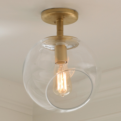Wonky Glass Ceiling Light for Shades of Light