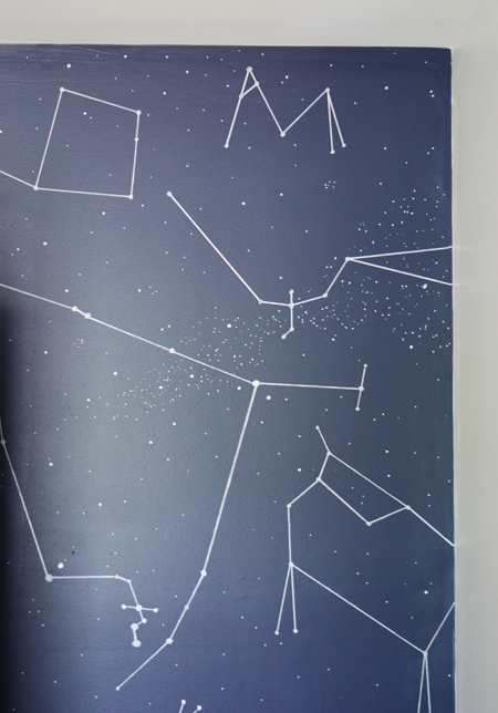 Outer Space Boys Bedroom-DIY-Constellation-Wall-Paint-Pen