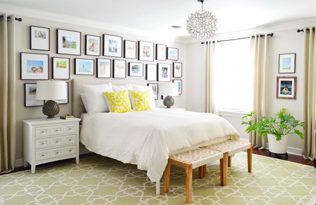 Beige-Paint-Master-Bedroom-Full-Frame-Gallery-Wall