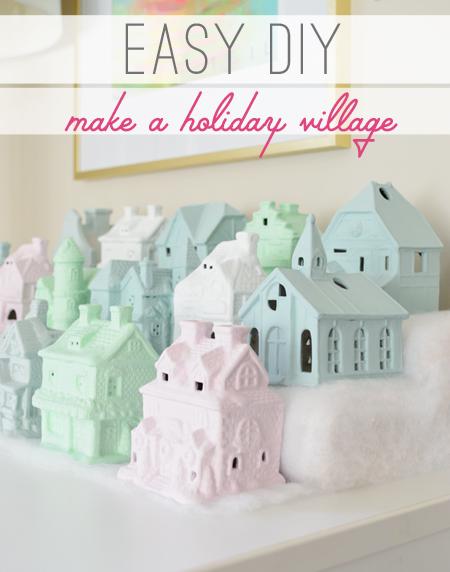 Christmas village easy diy how to make