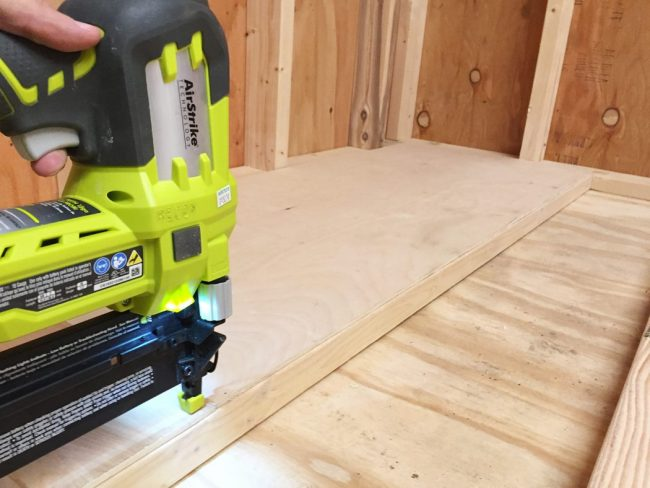 shed storage ideas scrapwood organizer base