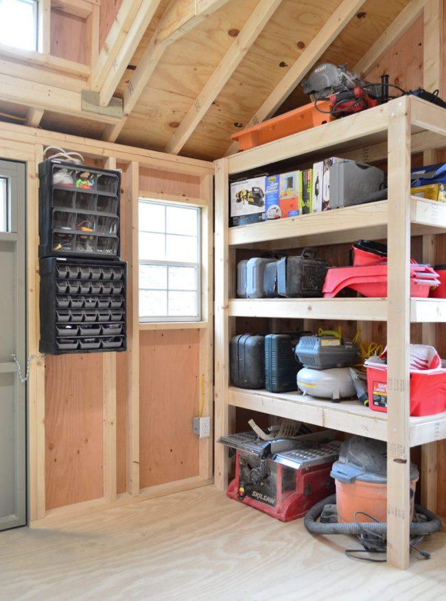 shed storage ideas heavy duty garage shelves
