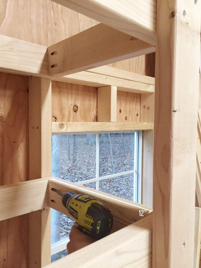 shed storage ideas adding side supports to DIY garage shelves