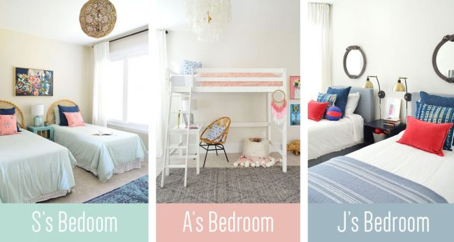 Three Bedroom Makeovers For Three Deserving Kids