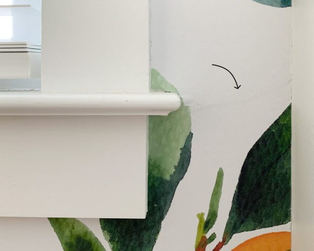 Detail Of Removable Wallpaper Installation With Overlapping Section