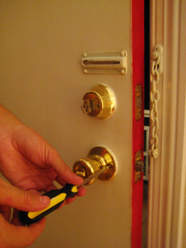 Dress Up Your Front Door By Installing A New Doorknob Deadbolt and