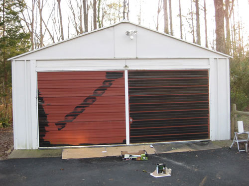 Before And After Garage Door Makeover With Paint