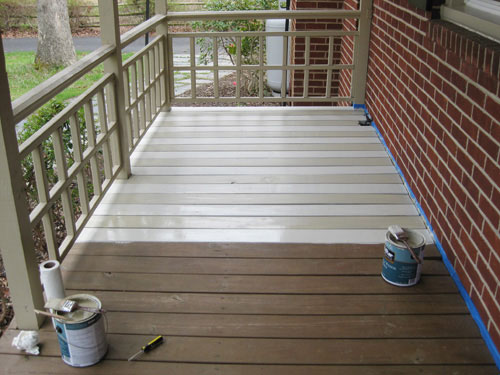 how to paint a wood deck or front porch