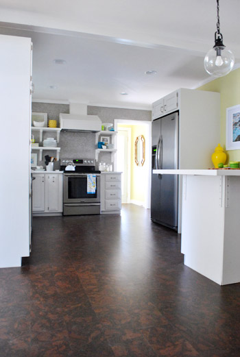 Completing Our Kitchens Cork Floor Installation Young