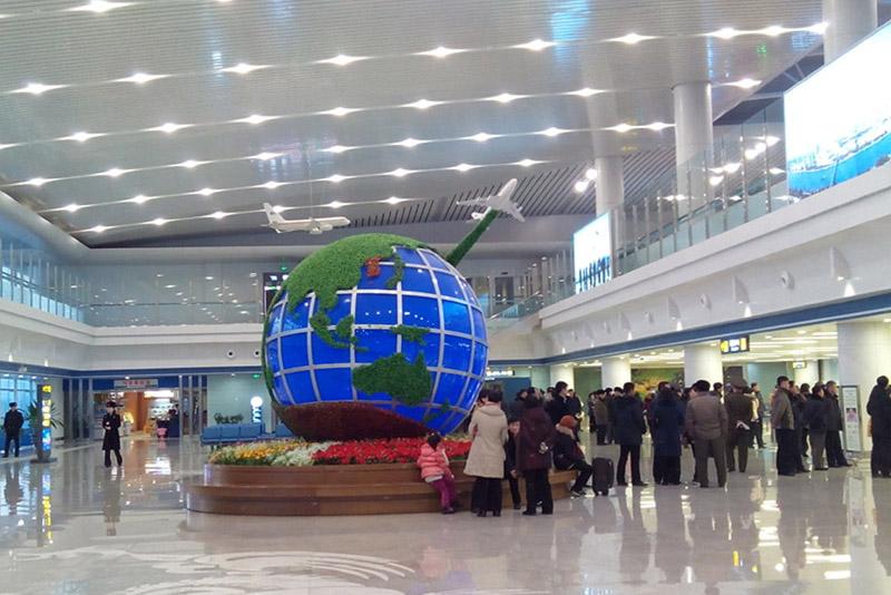 Pyongyang Airport Globe