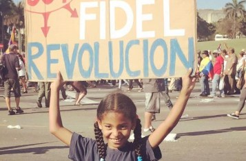Cuba at May Day, an iconic symbol for socialist countries.