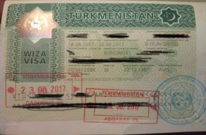 get a visa for Turkmenistan
