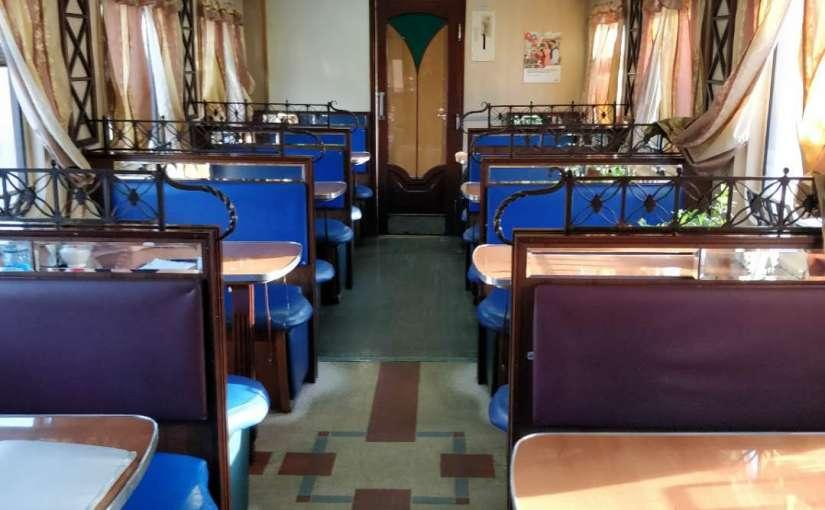 Transsiberian train dining cart
