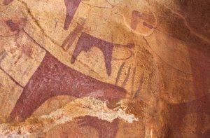 Cave paintings atLaasGeel
