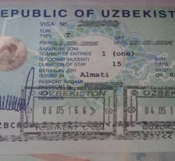 get a visa for Uzbekistan