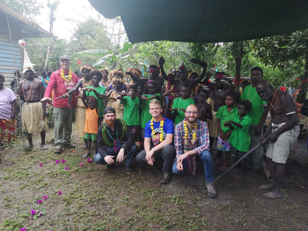 Group photo with the locals in Bougainville