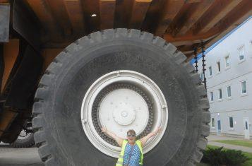 wheel of a super truck