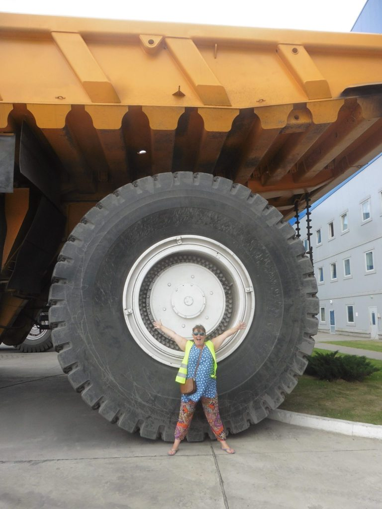wheel of a super truck