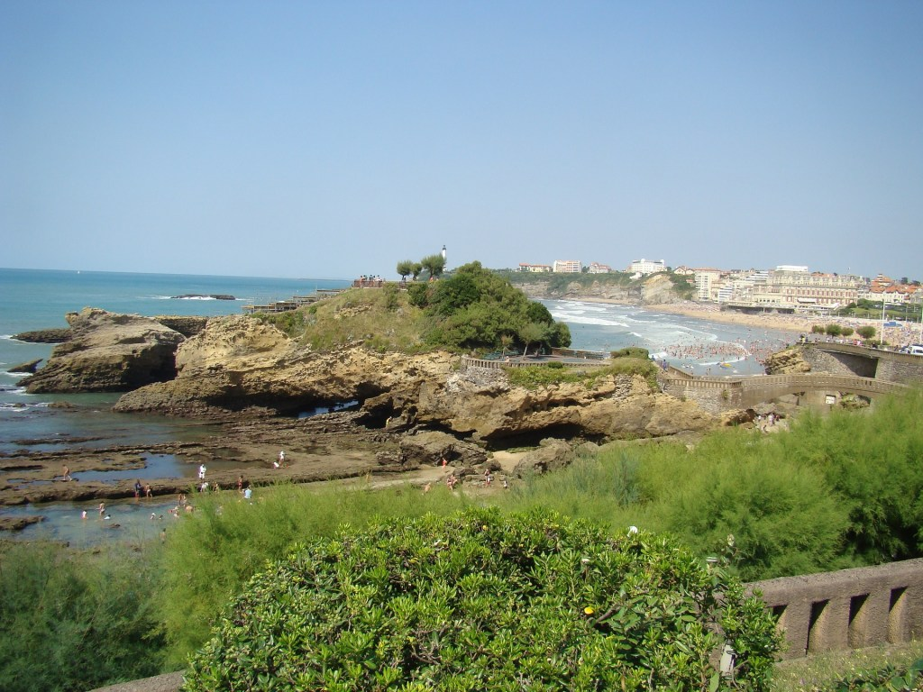 beach of biarritz is one of the best places to visit in France.