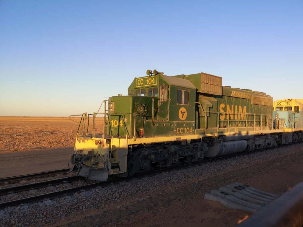 The Engine of the Mauritania Iron Ore Train