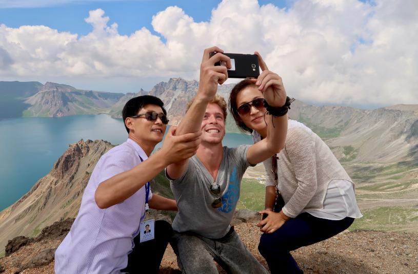 mt paektu selfie