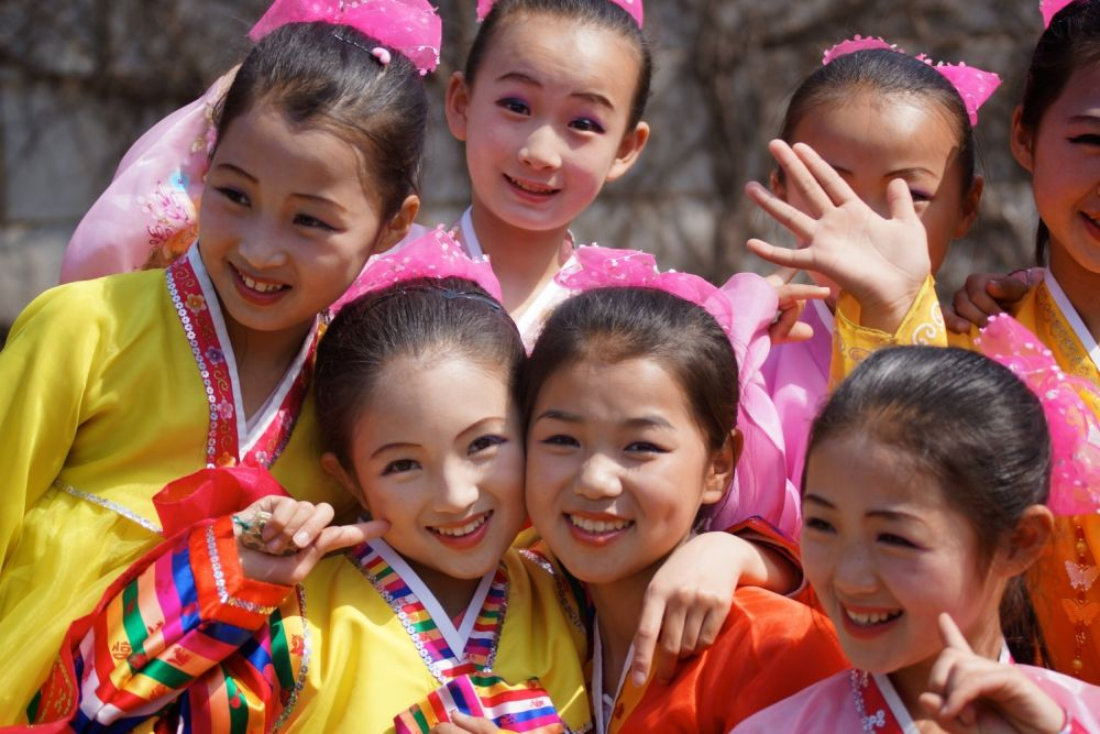 North Korean children enjoying their social benefits of North Korea