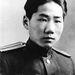 A portait photo of Mao Anying, son of Mao Zedong.