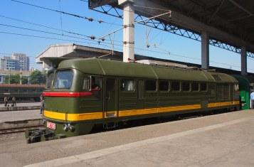 North Korea railway train