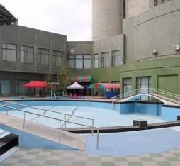 The swimming pool at the Chongnyon hotel