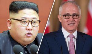 Australians in North Korea -- Kim Jong Un and Malcolm Turnbull.