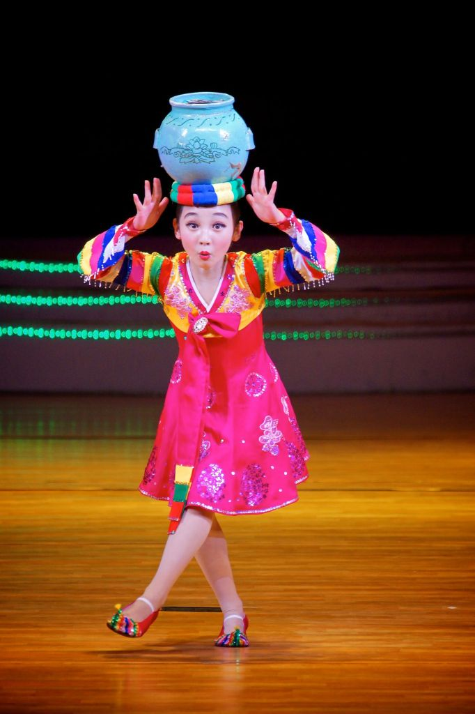 Traditional Korean dancing done by children