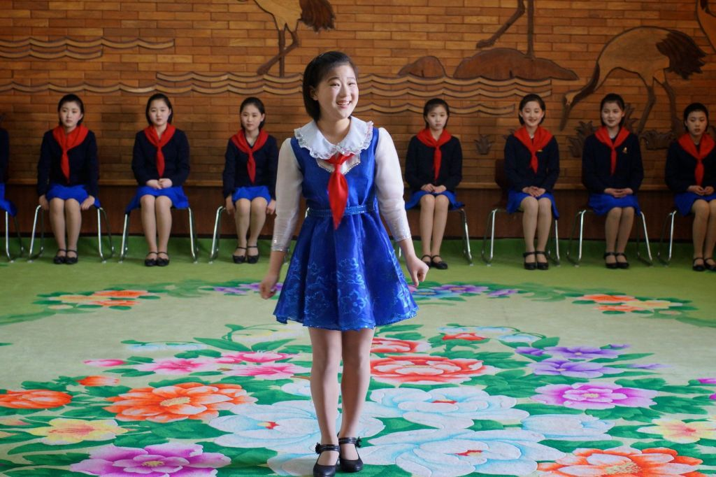Practicing dance at the Children's Palace of Mangyongdae