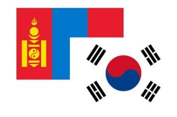 mongolians and koreans flag