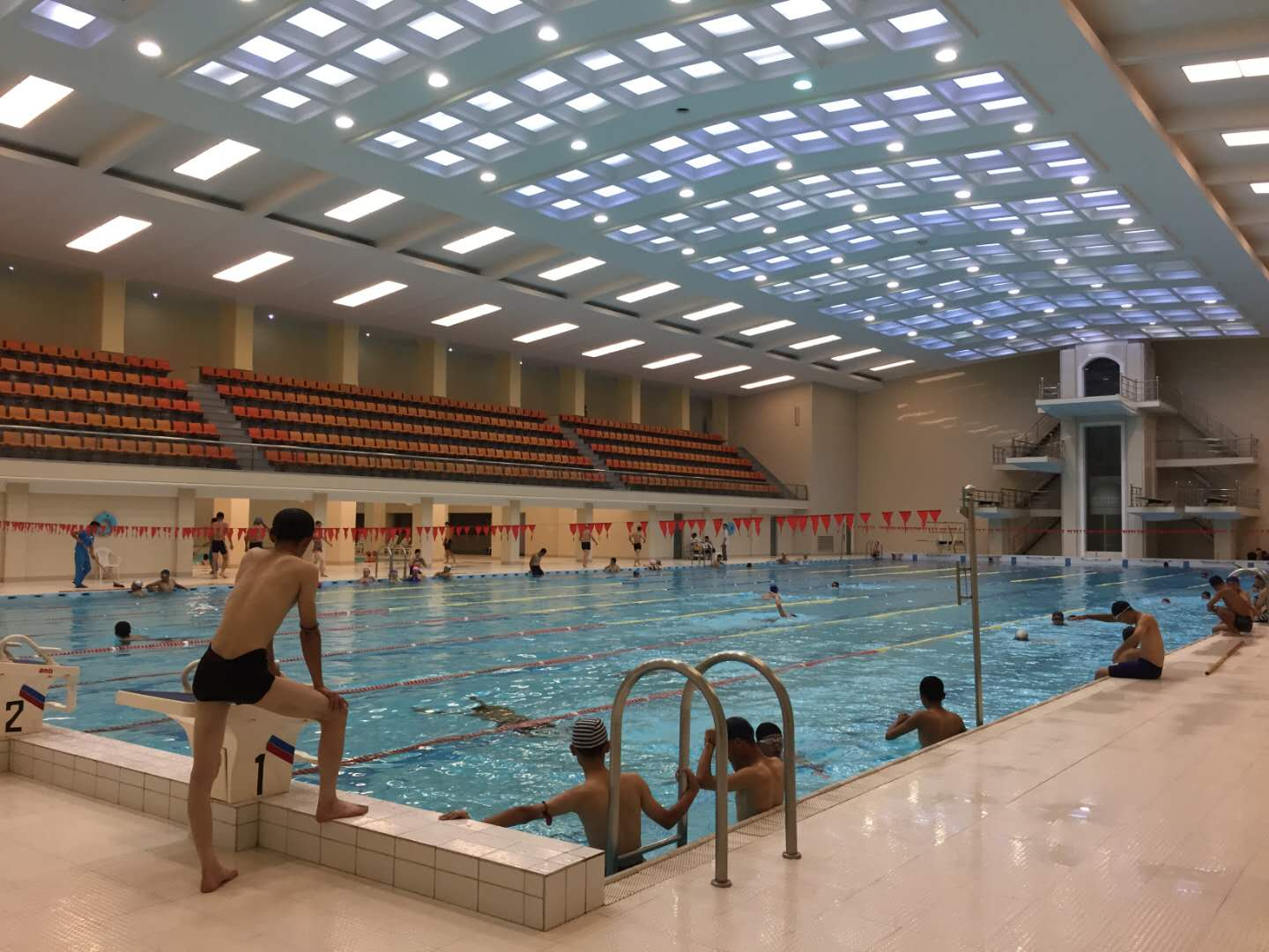 Swimming pool in Kim Il Sung University