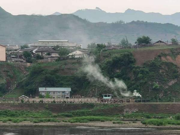 villages of North Korea can be seen from China