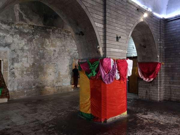 Inside the yazidi temple of Lalish