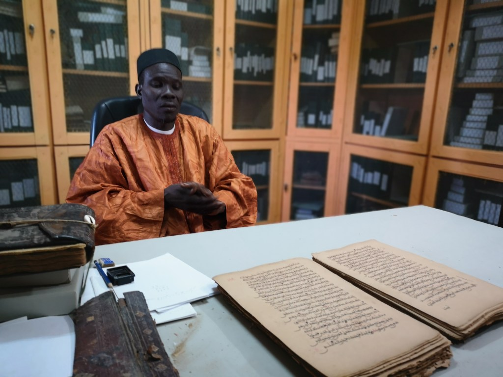 The man in charge of the preservation of manuscripts in Djenné, mali