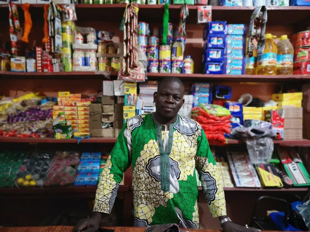 A shopkeeper in Djenné, Mali
