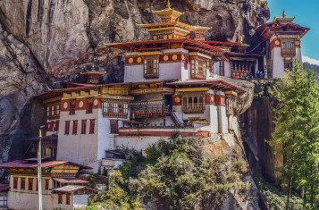 The world's famous Tiger's nest monastery in Bhutan