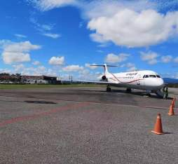 Air Niugini's plane landed in Honiara, Solomon Island